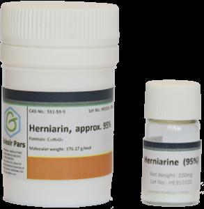 Herniarin vial